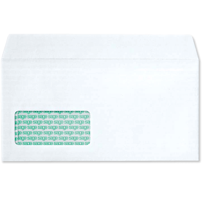 sage envelope with address window code 0646