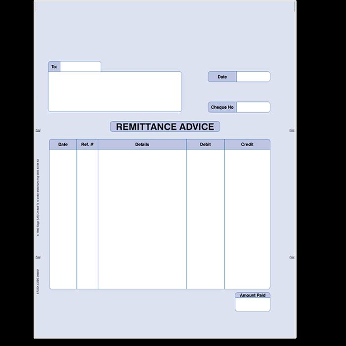 Sage remittance for laser printers 06412